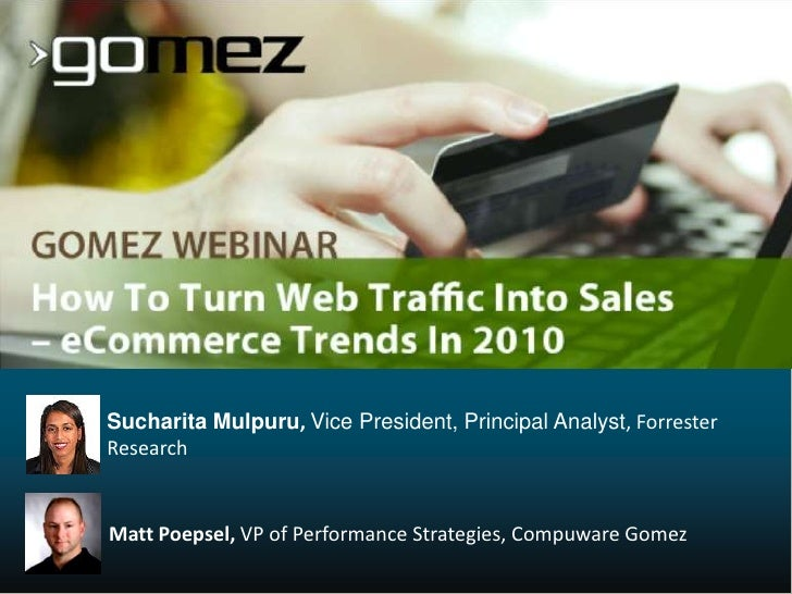 How to Turn Web Traffic Into Sales - eCommerce Trends in 2010