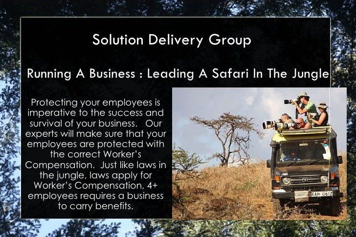Running A Business : Leading A Safari In The Jungle Solution Delivery Group Protecting your employees is imperative to the...