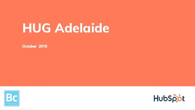 October 2018 HUG Adelaide