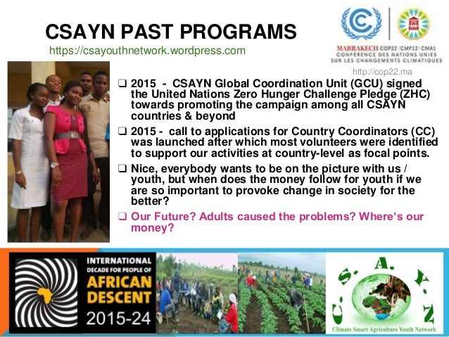 CSAYN ACTIVITIES IN PICTURES Launch Nigeria Climate Smart Agriculture Youth Network https://csayouthnetwork.wordpress.com