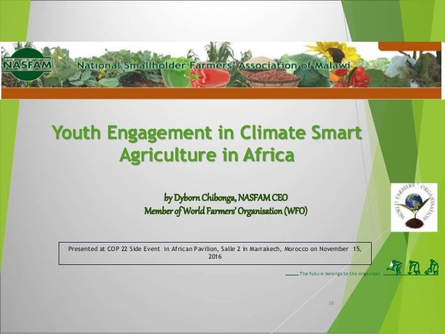 Why Engagement of Youth in Agriculture • Agriculture is now being modernized and receiving the attention that would make i...