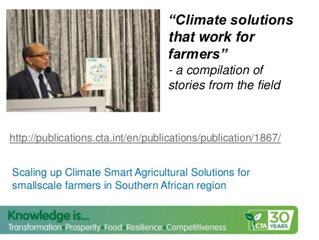 COP 22 Side Event: Youth Engagement in Climate-Smart Agriculture in Africa presentations
