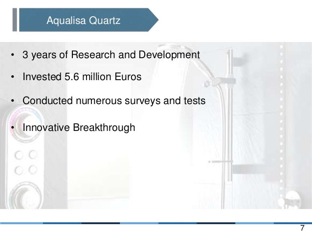 marketing strategy case presentation aqualisa quartz Marketing 425 - strategic marketing section 03, crn 24001 spring 2018 - hand-off memo & presentation 15% 7% 10% case reports and exams will be individual exercises strategy integration aqualisa quartz what strategy should aqualisa pursue to grow the.
