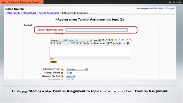 Turnitin for Higher Education