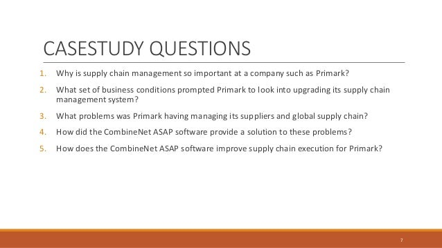 Supply chain management primark