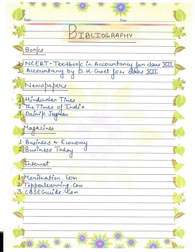 Accountancy Project Class 12th CBSE