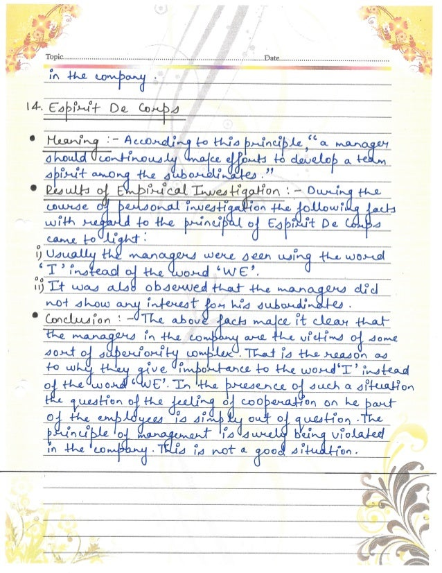 Business Studies (Principles of Management) Project Class 12th CBSE