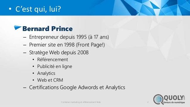 Combiner marketing et référencement web  (seo) Slide 2