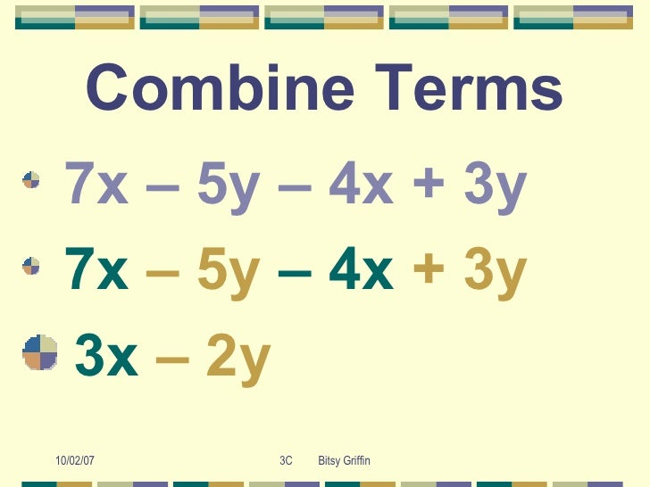 Combining Like Terms made easy!