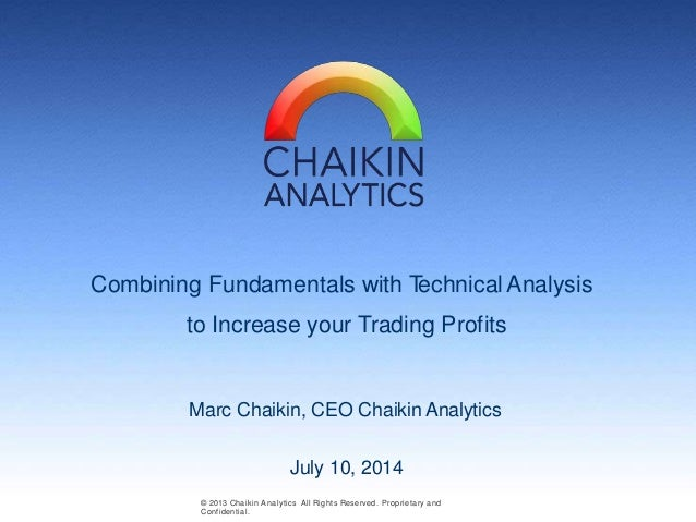 Combining Fundamentals with Technical Analysis to Increase your Trading Profits Marc Chaikin, CEO Chaikin Analytics © 2013...