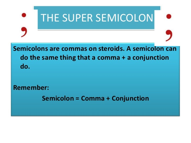 "semicolons commas fanboys and conjunctions You may use a comma with a coordinating conjunction to join two simple  sentences, or you may use a  remember this by using the acronym, ""fanboys ."
