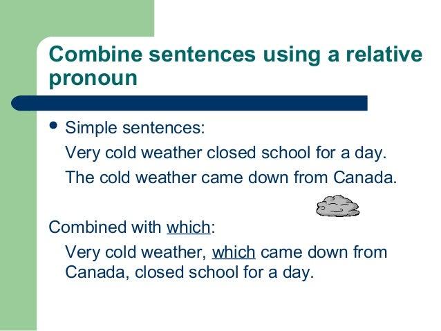 Combining sentences ppt for Floor sentence