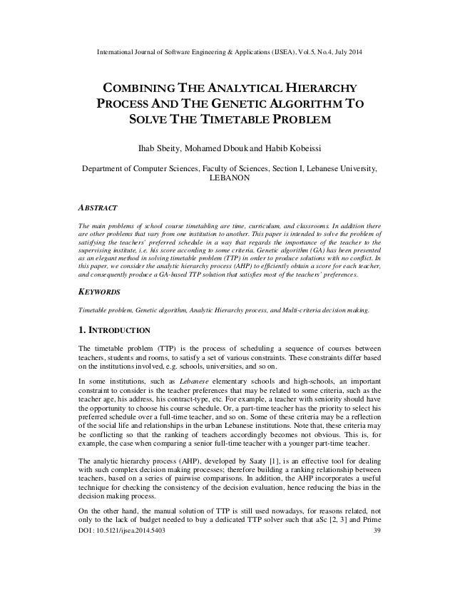 International Journal of Software Engineering & Applications (IJSEA), Vol.5, No.4, July 2014 DOI : 10.5121/ijsea.2014.5403...