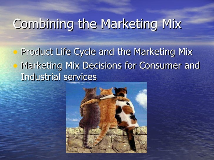 Combining the Marketing Mix <ul><li>Product Life Cycle and the Marketing Mix </li></ul><ul><li>Marketing Mix Decisions for...