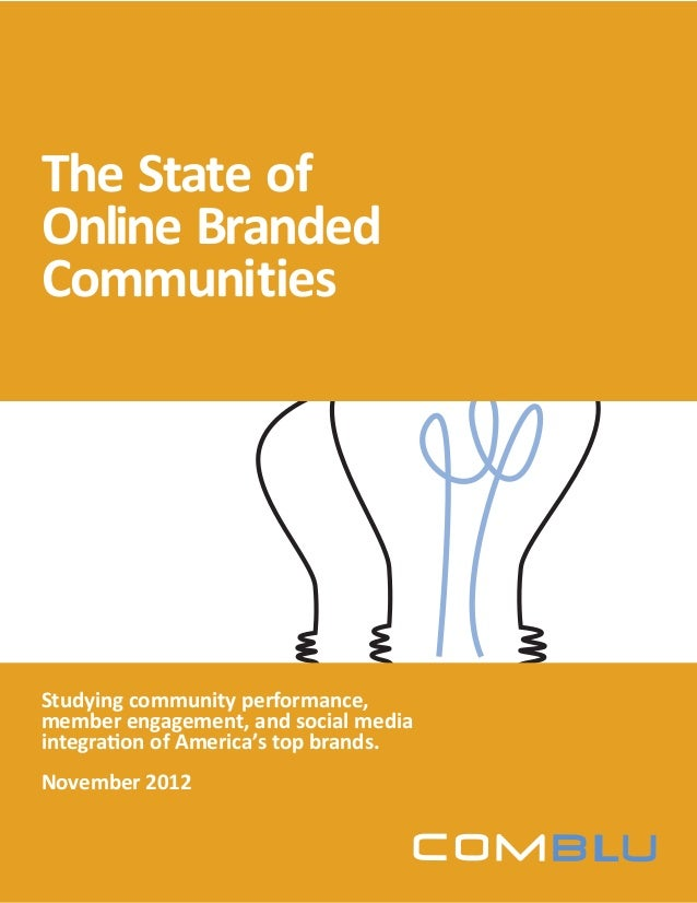 ComBlu | The State of Online Branded Communities 1© COPYRIGHT 2012, ComBlu 2012 Studying community performance, member eng...