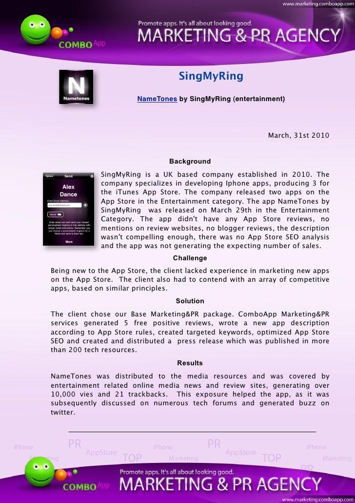 SingMyRing                          NameTones by SingMyRing (entertainment)                                               ...
