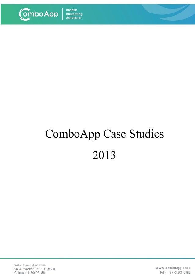 ComboApp Case Studies 2013