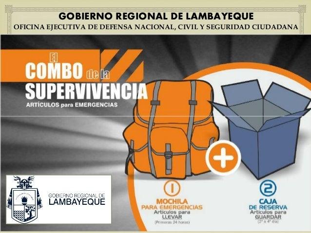   GOBIERNO REGIONAL DE LAMBAYEQUE  OFICINA EJECUTIVA DE DEFENSA NACIONAL, CIVIL Y SEGURIDAD CIUDADANA