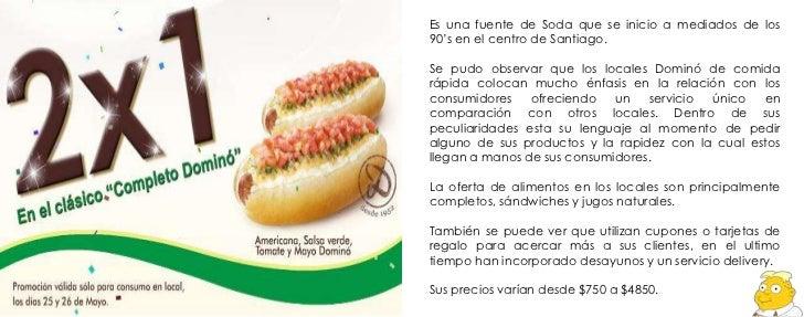 Cupones de comida rapida chile