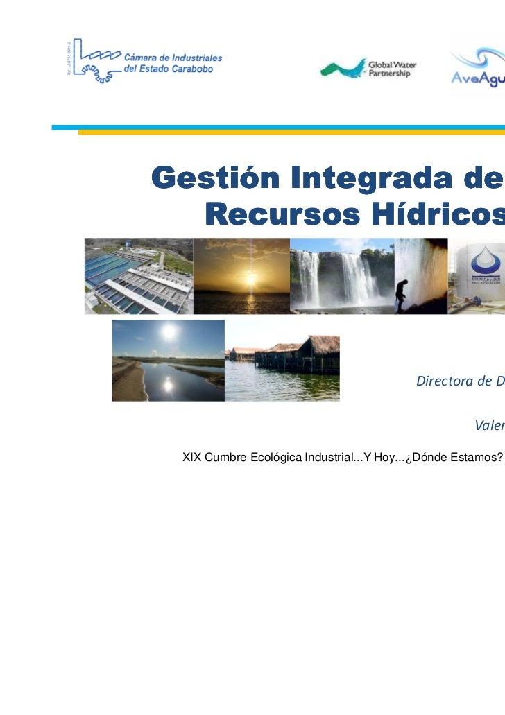 Gestión Integrada de los  Recursos Hídricos                                                         Biol. Zoyla Martínez  ...