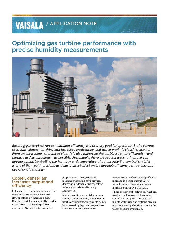 Optimizing gas turbine performance with precise humidity measurements Ensuring gas turbines run at maximum efficiency is a...