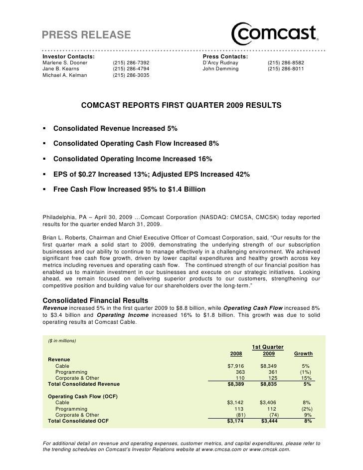 PRESS RELEASE Investor Contacts:                                                Press Contacts: Marlene S. Dooner         ...