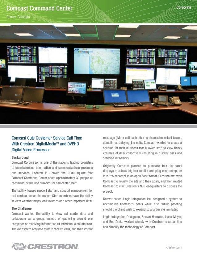 Comcast Cuts Customer Service Call Time With Crestron DigitalMediaTM and DVPHD Digital Video Processor Background Comcast ...