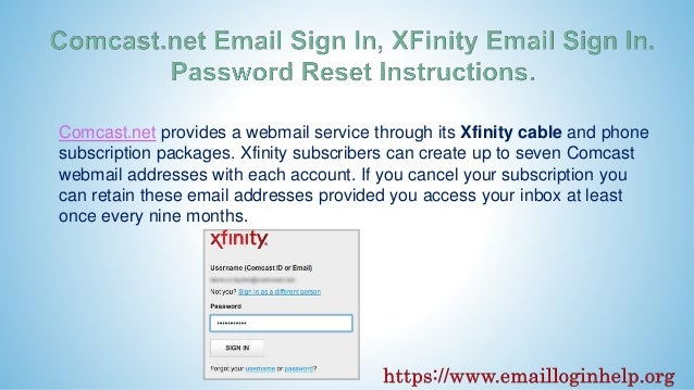 Comcast email sign in