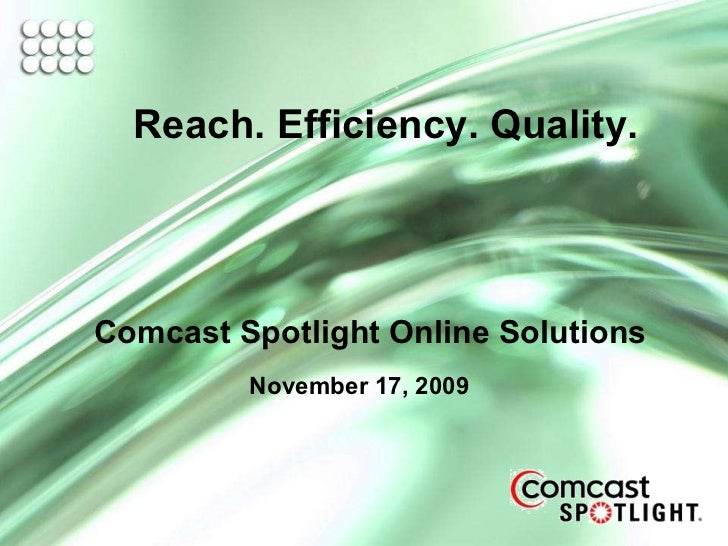 Comcast Spotlight Interactive Presentation 11 17 09