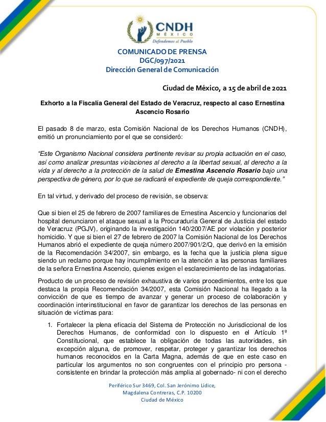 Periférico Sur 3469, Col. San Jerónimo Lídice, Magdalena Contreras, C.P. 10200 Ciudad de México COMUNICADO DE PRENSA DGC/0...