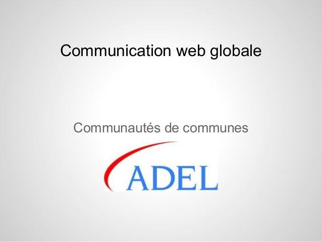 Communication web globale Communautés de communes