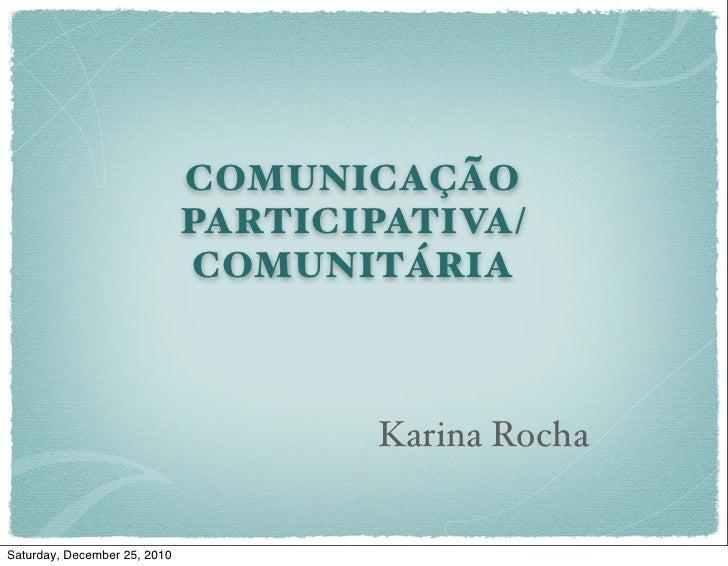 Comunicação Comunitária