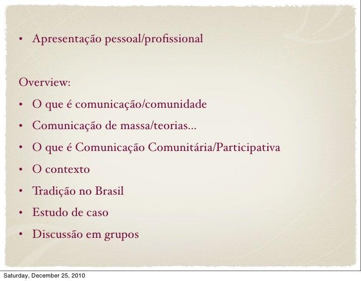 Comunicação Comunitária Slide 2