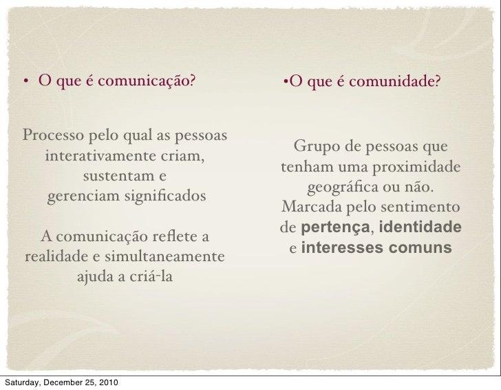 Comunicação Comunitária Slide 3