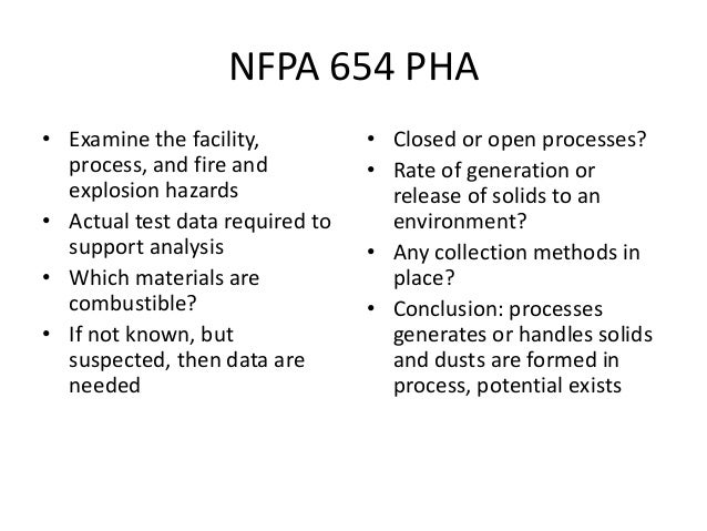 Combustible Dust 2015 nfpa 644