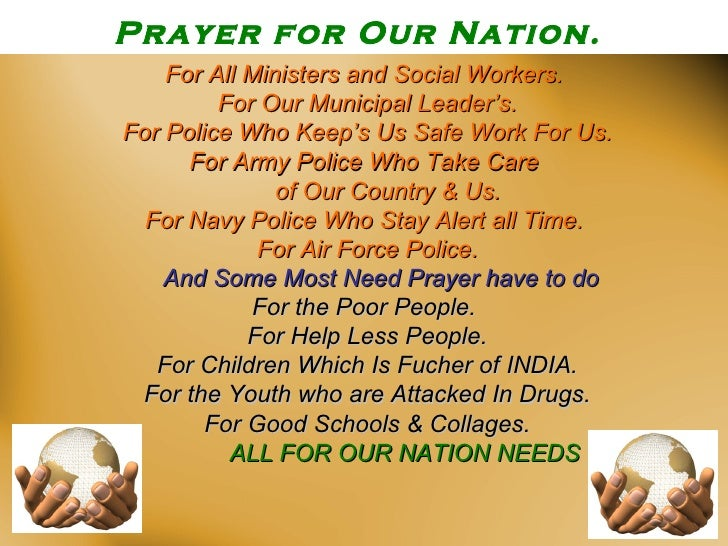 our nation Are you looking for a prayer guide for our nation read these 10 war room prayers for our nation and use them as a prayer strategy in your own prayer time these prayers offer hope for our nation.
