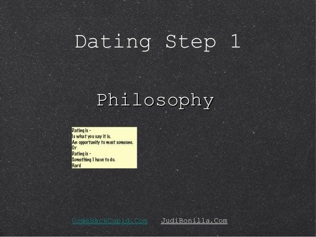 Philosophy of online dating