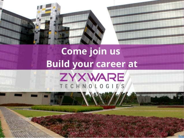 Come join us Build your career at