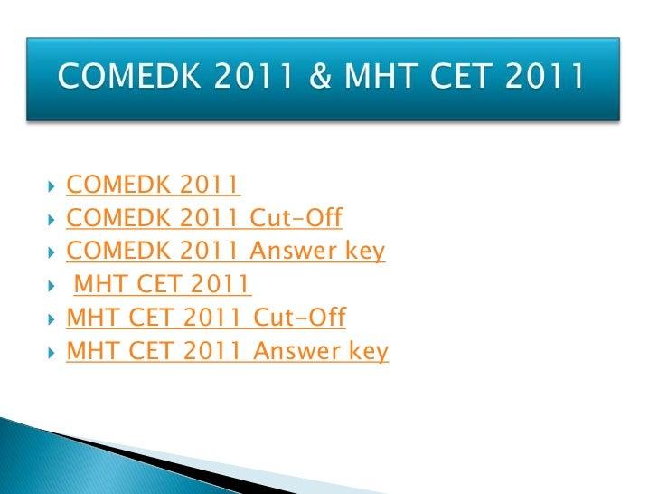 COMEDK UGET 2011