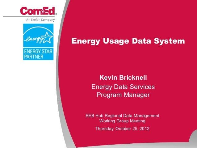 Energy Usage Data System       Kevin Bricknell     Energy Data Services      Program Manager   EEB Hub Regional Data Manag...