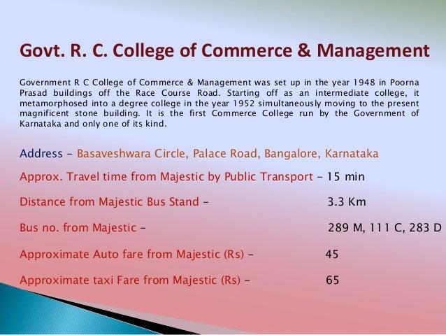 Government rc college (boys) hostel bengaluru karnataka
