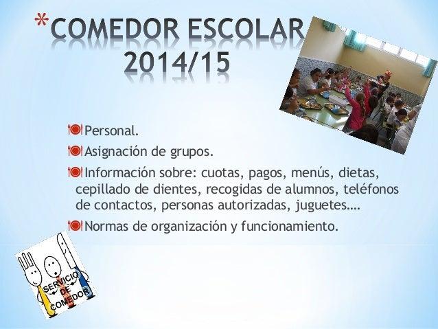 Comedor escolar 2014 15 for Comedor escolar proyecto