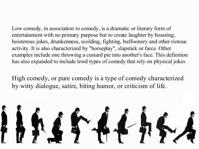 Comedy for Farcical comedy definition