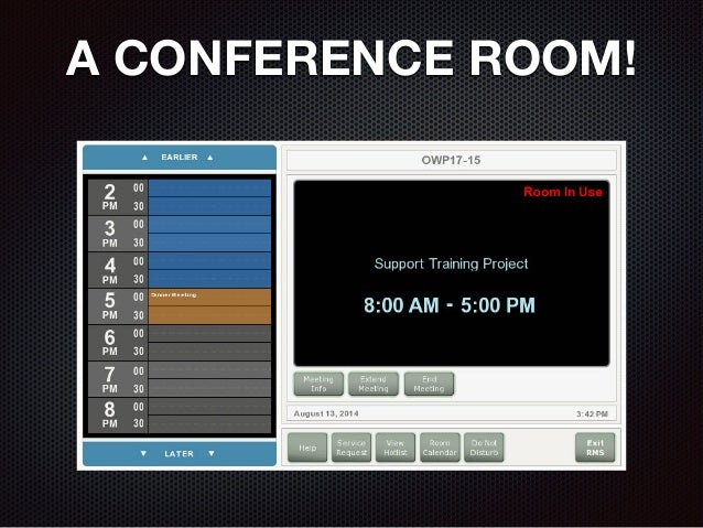 A CONFERENCE ROOM!
