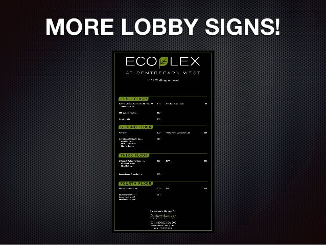 MORE LOBBY SIGNS!