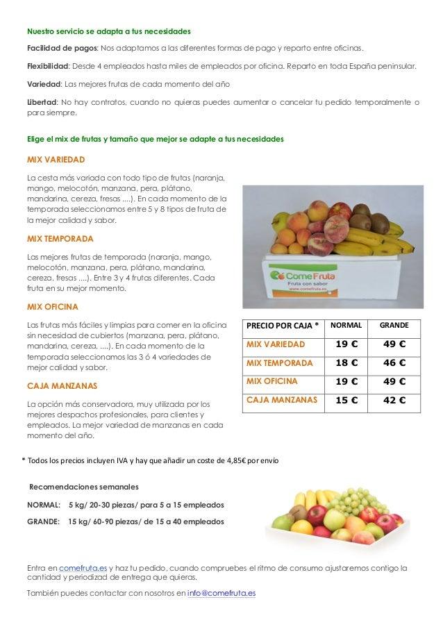 fruta en la oficina