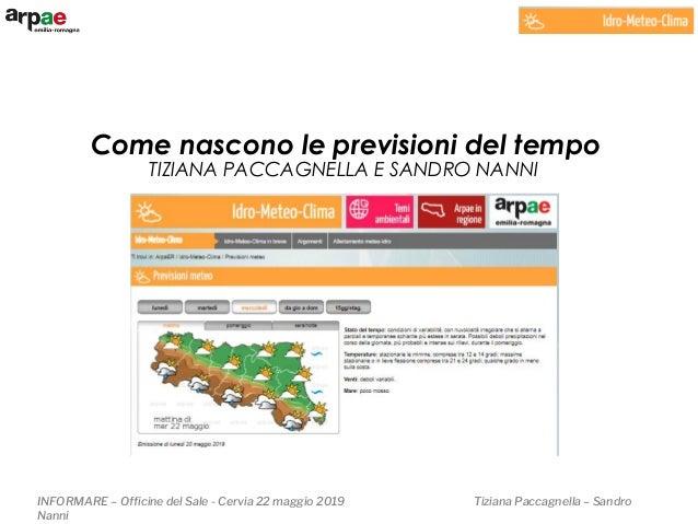 INFORMARE – Officine del Sale - Cervia 22 maggio 2019 Tiziana Paccagnella – Sandro Nanni TIZIANA PACCAGNELLA E SANDRO NANN...