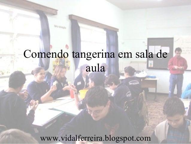 Comendo tangerina em sala de aula www.vidalferreira.blogspot.com