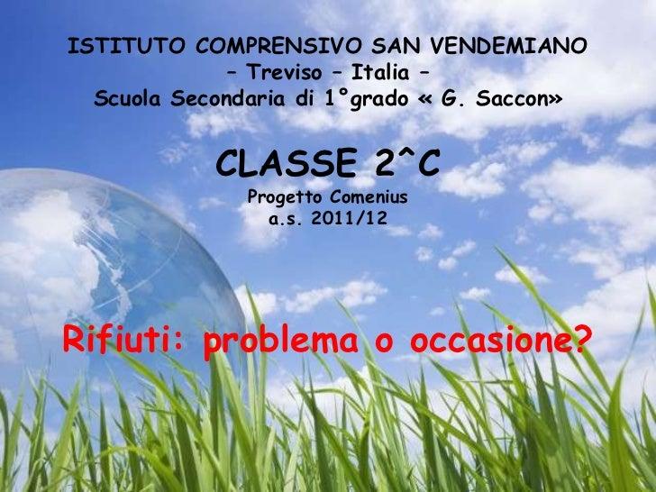 Savno San Vendemiano.Comenius11 12
