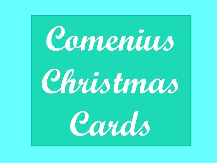 Comenius Christmas Cards